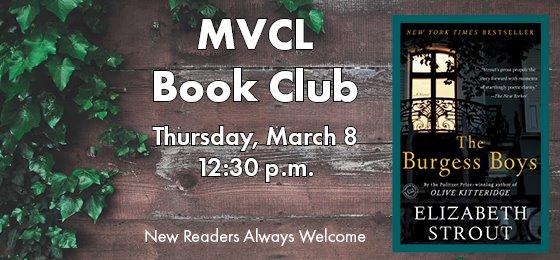 March Book Club - Thursday, March 8