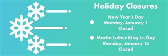 January 2018 Holiday Closures