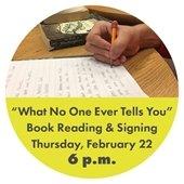 Book Reading & Signing Thursday, Feb. 22 @ 6 p.m.