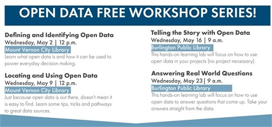 Open Data Free Workshop Series - Wednesdays in May