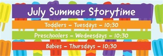 July Summer Storytime